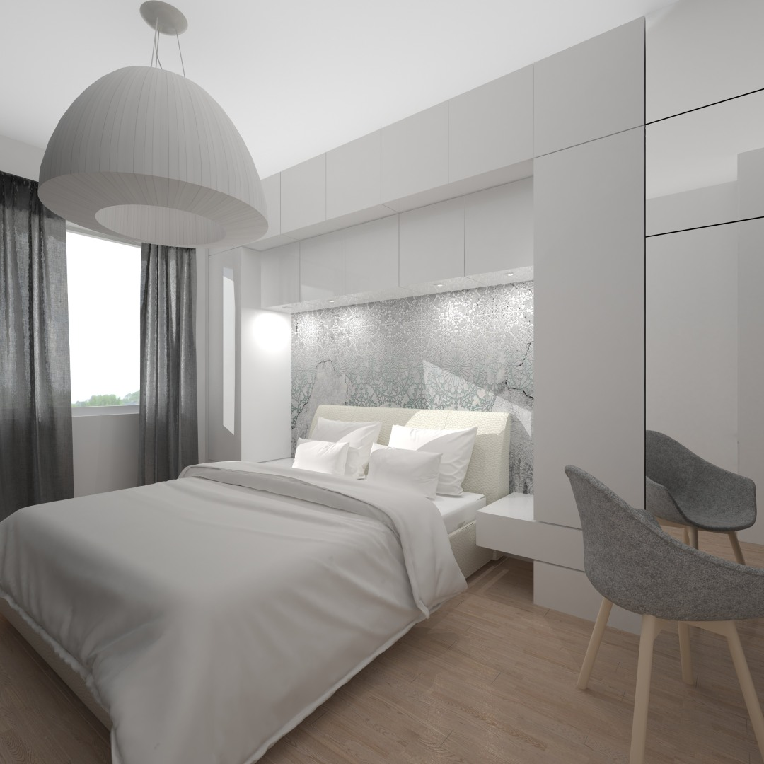 Projekt i realizacja wystroju wnętrza - Projektowanie sypialni architekt Łódź